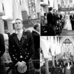 Wedding ceremony at St Peters in Glasgow