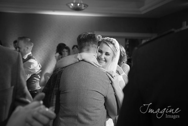 Bride and Groom on their wedding day at Gleddoch House Hotel