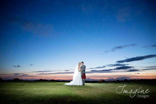 Bride and Groom on their wedding day at Lochgreen House Hotel