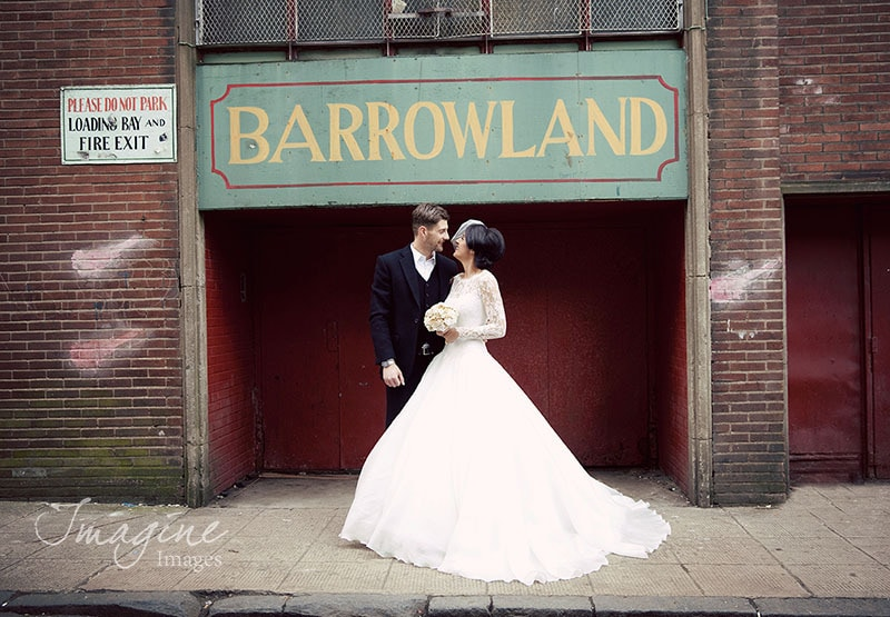 Bride and Groom on Wedding Day at Barrowlands Glasgow