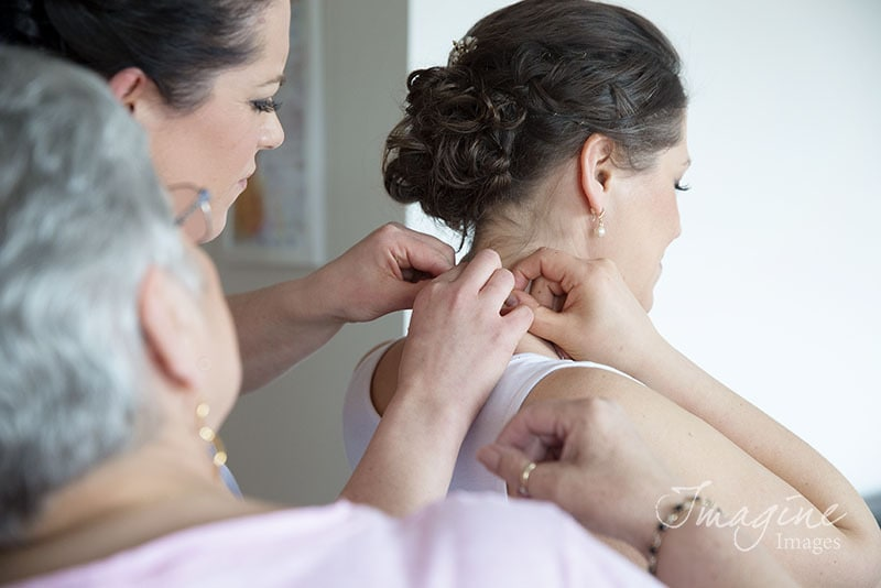 Bride preparations for her wedding day