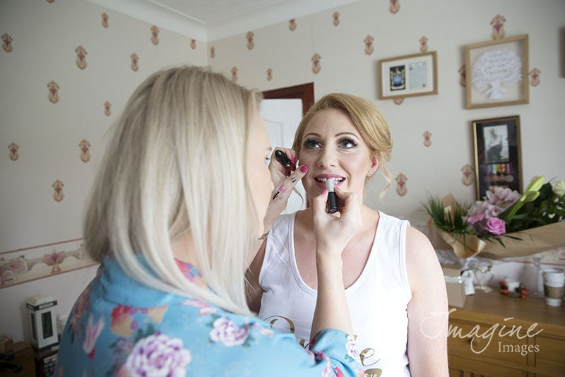 Bride preparations for wedding day