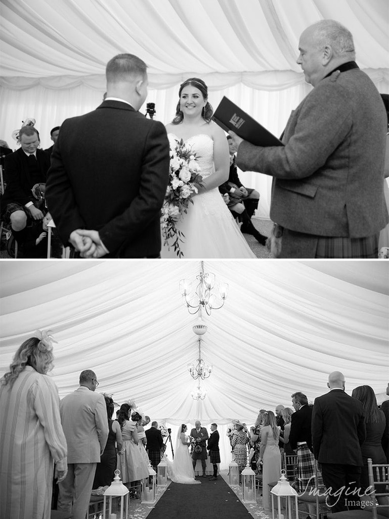 Wedding ceremony at Cornhill Castle