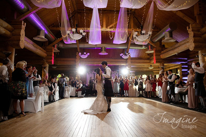 First dance with Bride and Groom at Piperdam in Dundee
