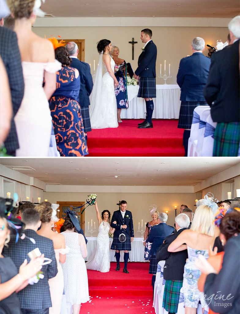Wedding ceremony at Shieldhill Castle