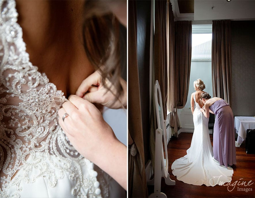 Bride preparations on wedding day at 29 in Glasgow