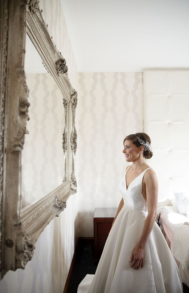 Bride preparations on wedding day at Glenbervie House Hotel