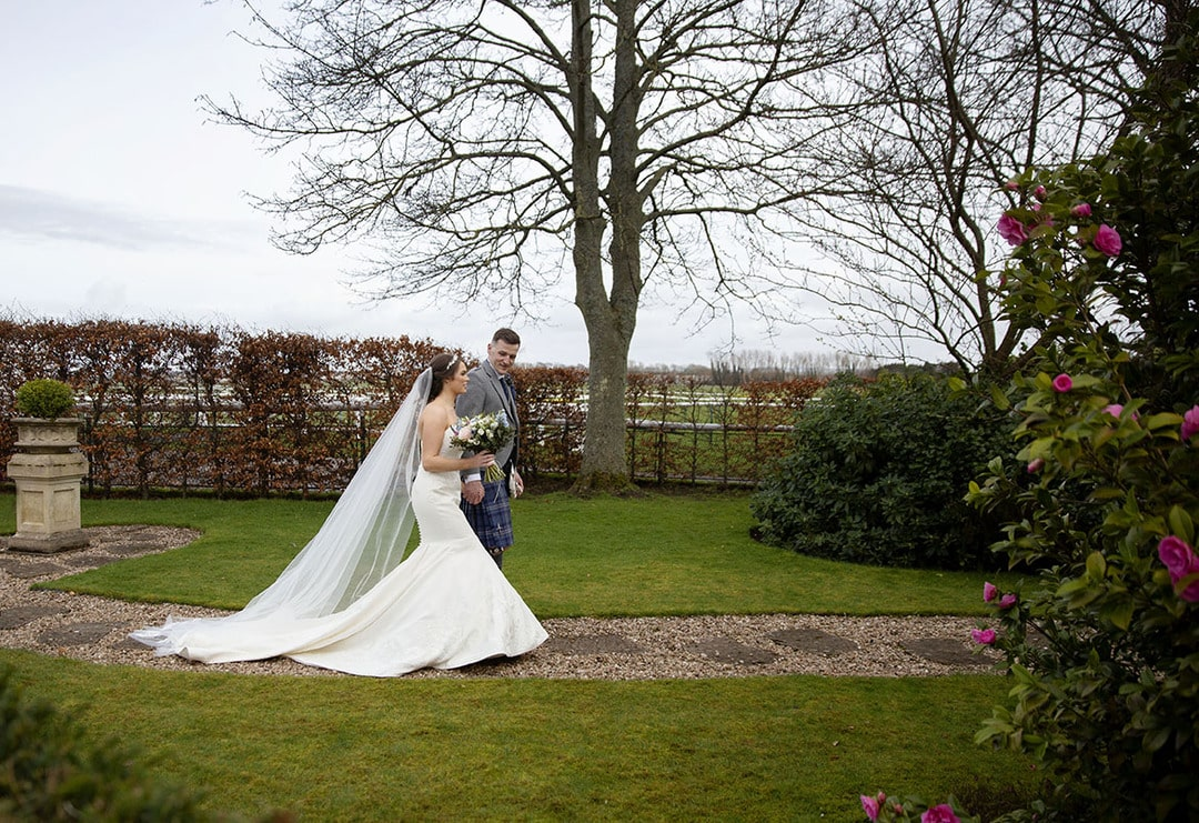 Bride and Groom on wedding day at Western House Hotel