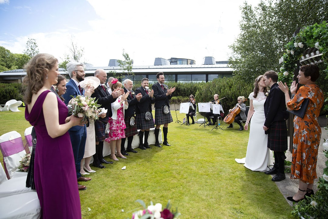 Wedding ceremony at The Glasshouse Edinburgh